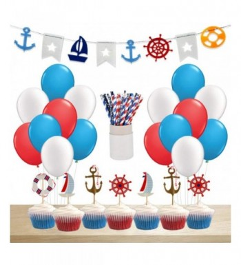 KREATWOW Nautical Supplies Decorations Balloons