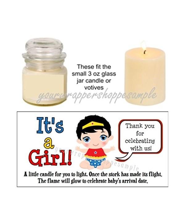 Superhero Super Shower Candle Labels