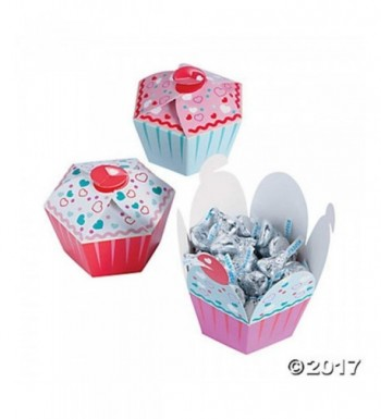 Cupcake Shaped Party Hearts Valentines