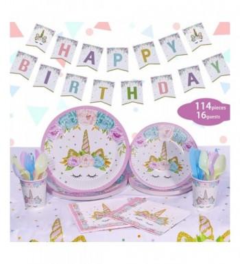 Unicorn Party Supplies Set Decorations