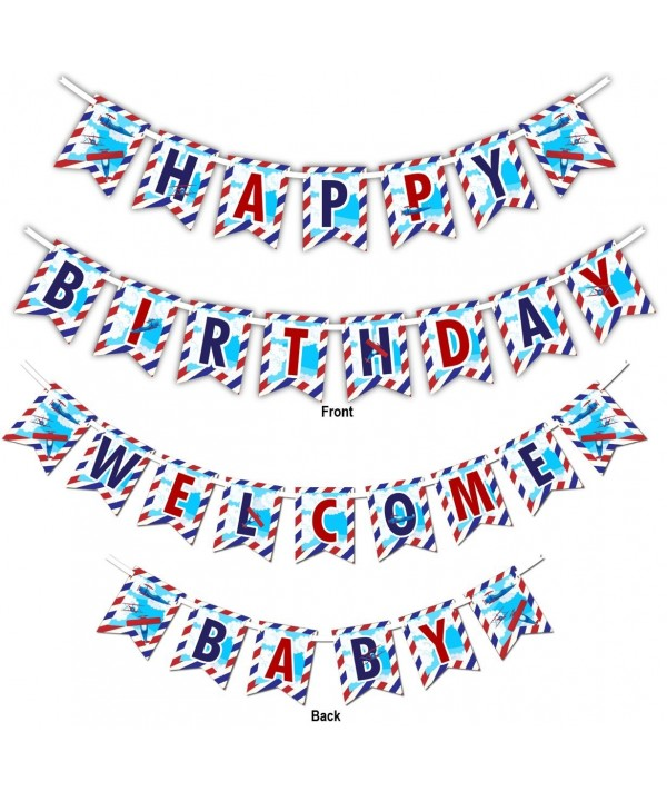 Airplane Multi Use Birthday Welcome Decoration