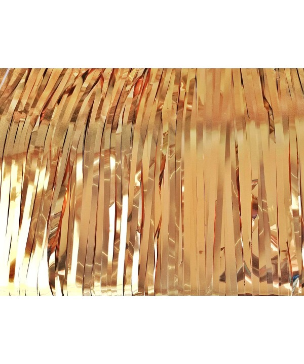 Frayed Chalet Gold Tinsel Curtain