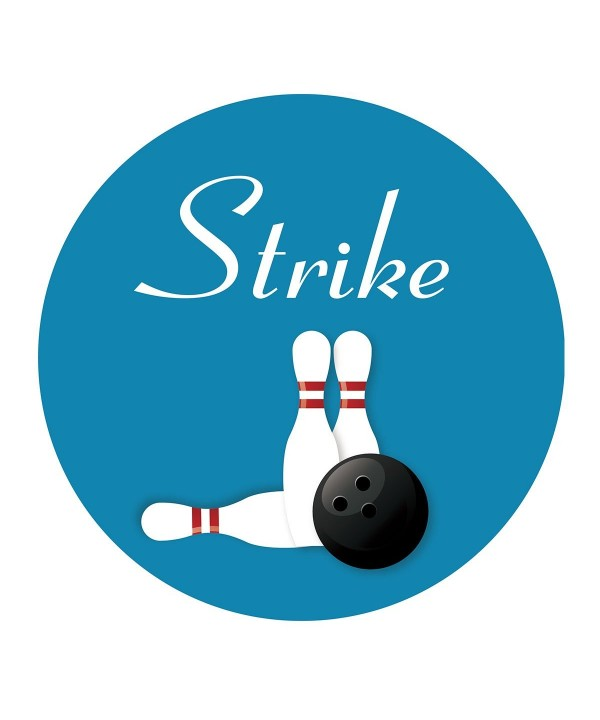 MAGJUCHE Bowling Stickers Birthday Retirement