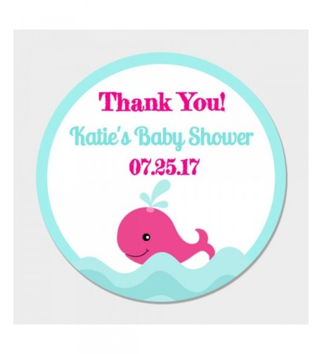 Personalized Whale Party Favor Stickers