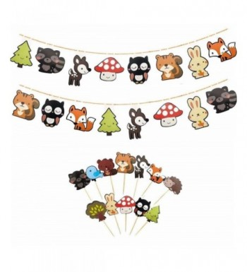 Woodland Creatures Banners 12 Pack Birthday