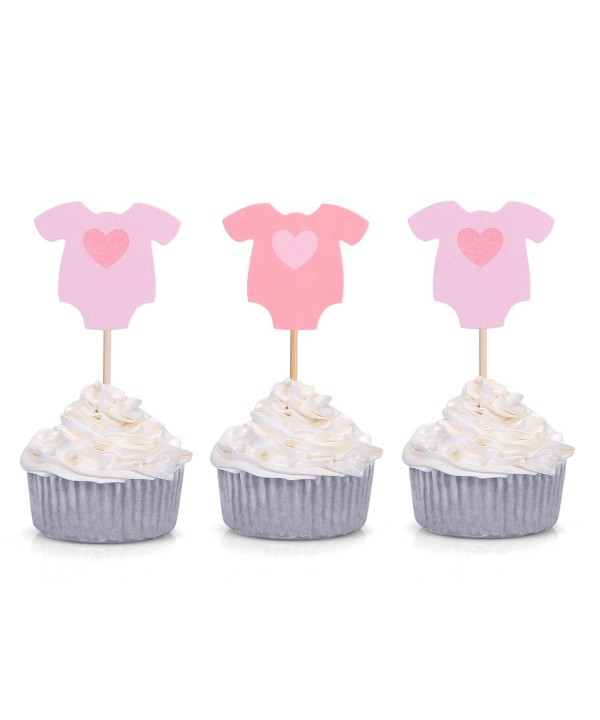 Giuffi Jumpsuit Cupcake Toppers Shower