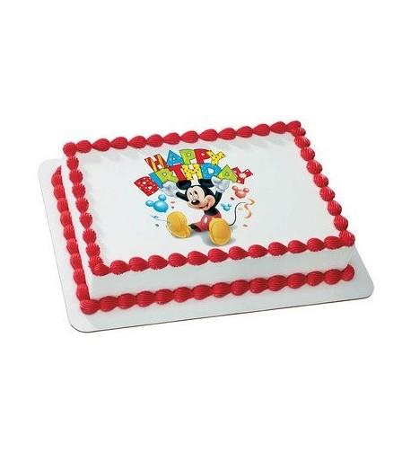 Mickey Birthday Licensed Edible Topper