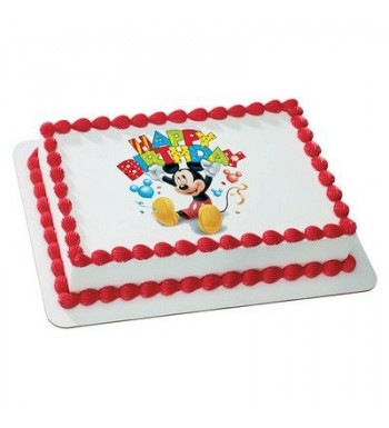 Mickey Birthday Licensed Edible Topper