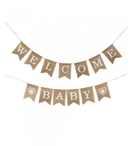 Betalala Welcome Burlap Banner Vintage Decorations