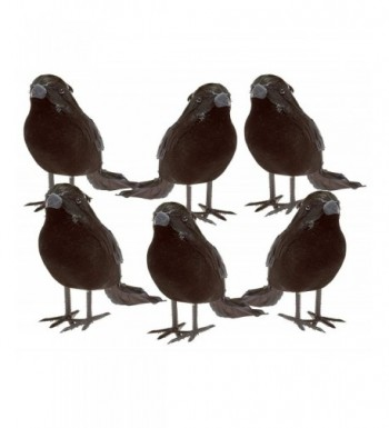 Halloween Black Feathered Small Crows