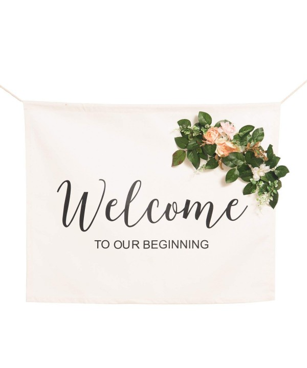 Lings moment Canvas Wedding Banner
