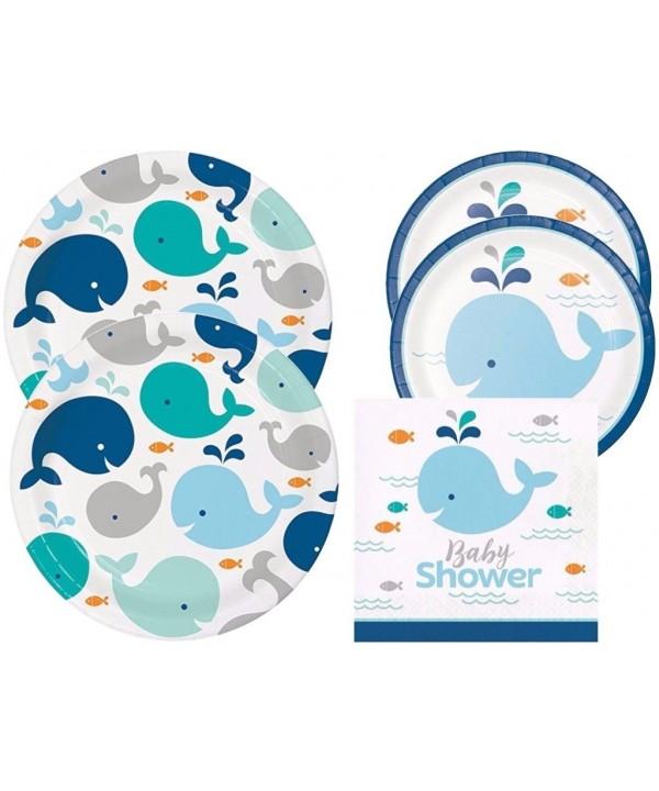 Spout Whale Shower Plates Napkins