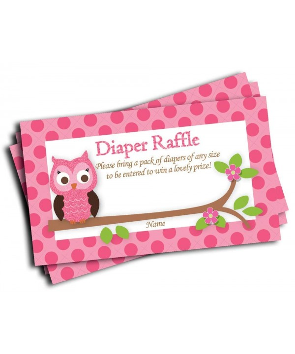 Printed Diaper Raffle Tickets 50 cards