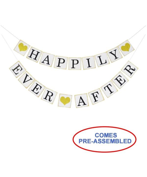 Happily Glitter Wedding Engagement Decorations