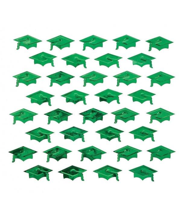Green Graduation Hat Confetti Decorations