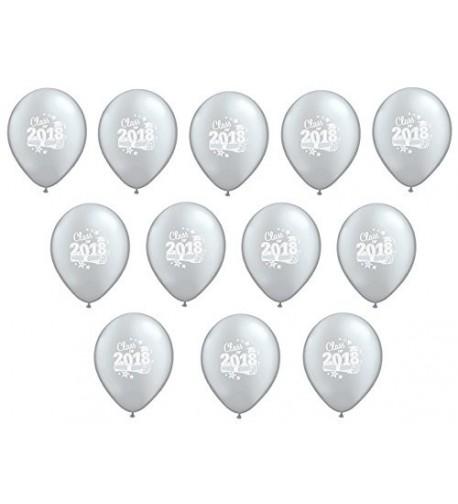 SILVER Class Graduation Latex Balloons