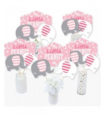 Pink Elephant Birthday Centerpiece Toppers
