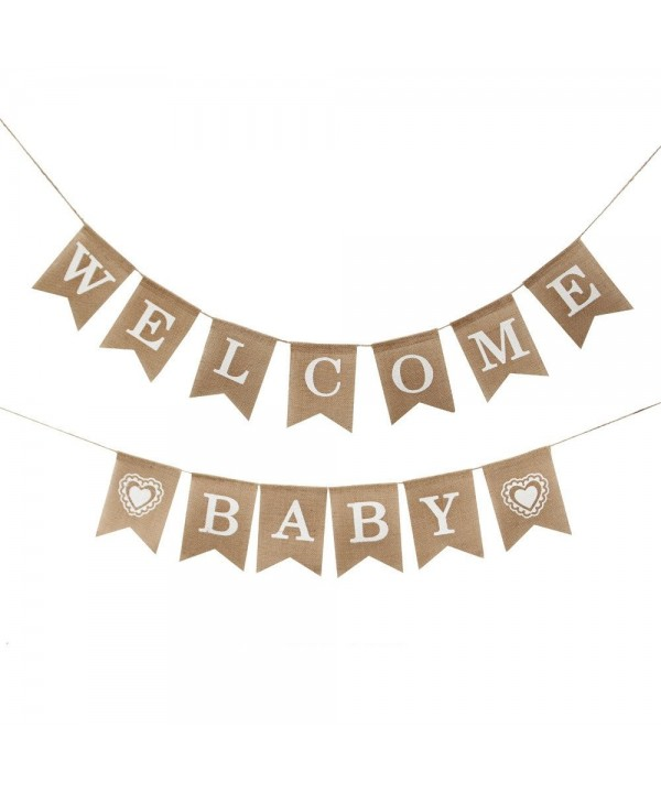 Burlap Welcome Banner Shower Decoration
