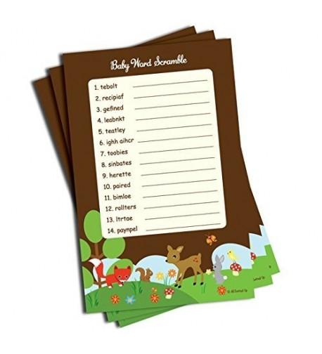 Word Scramble Shower Woodlands 50 sheets