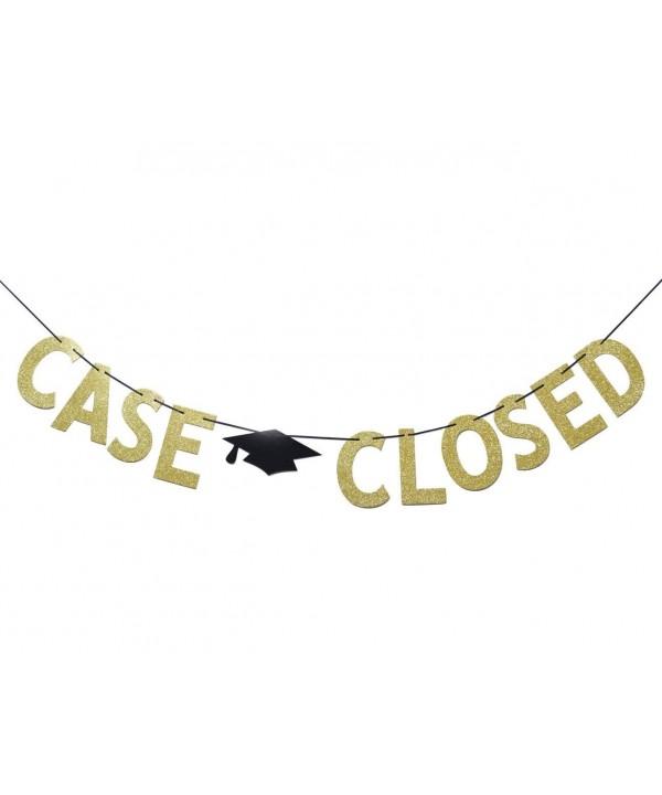 Closed Glitter Graduation Supplies Bunting