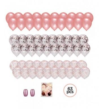 Large PREMIUM Rose Confetti Balloons