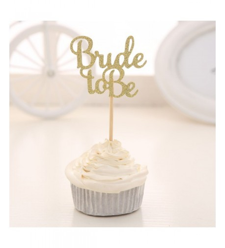 Glitter Cupcake Toppers Wedding Bridal