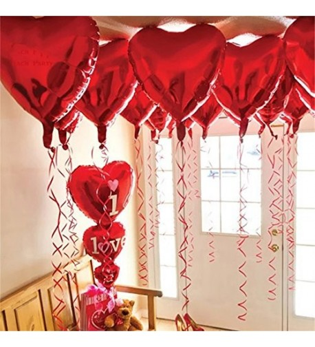 Red Heart Shape Balloons Decorations