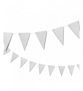 Silver Party Banner Triangle Garland