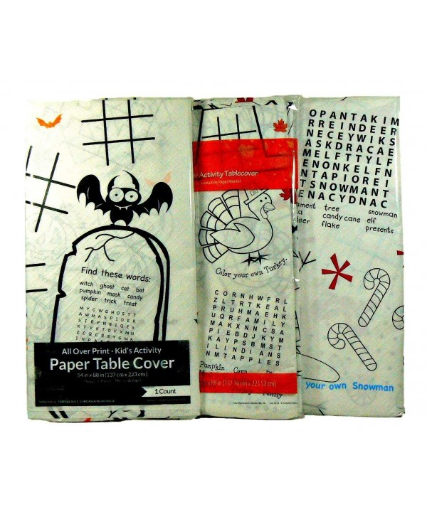 Childrens Holiday Activity Tablecloth Bundle