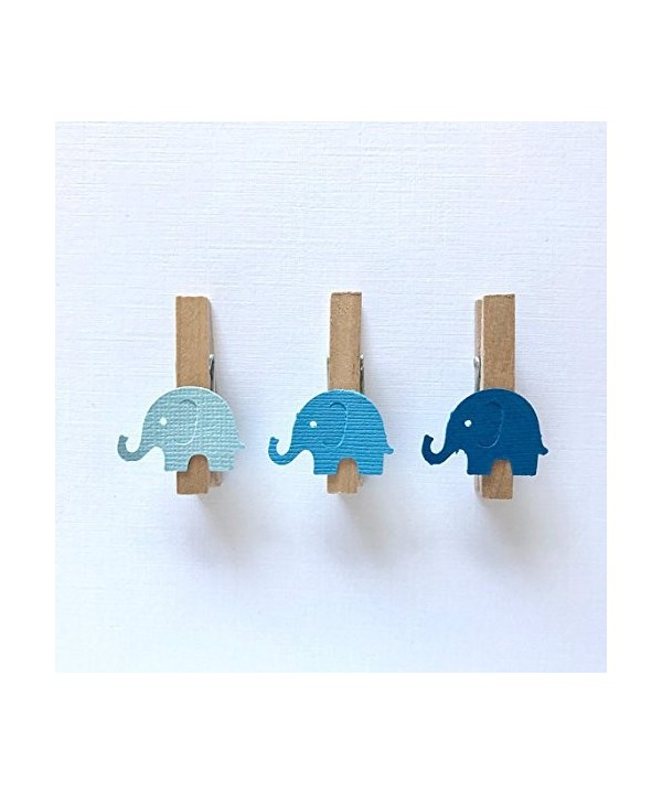 Sweet Thymes Elephant Clothespins Decoration