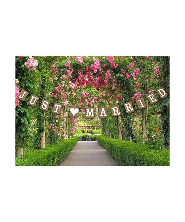 QTMY Vintage MARRIED Wedding Decoration