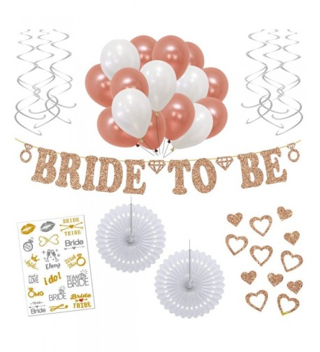 Rose Gold Bachelorette Party Decorations