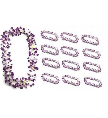 Purple Hawaiian Garland Artificial Flowers