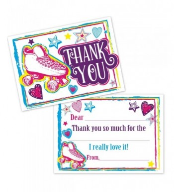 Roller Skating Kids Thank Cards