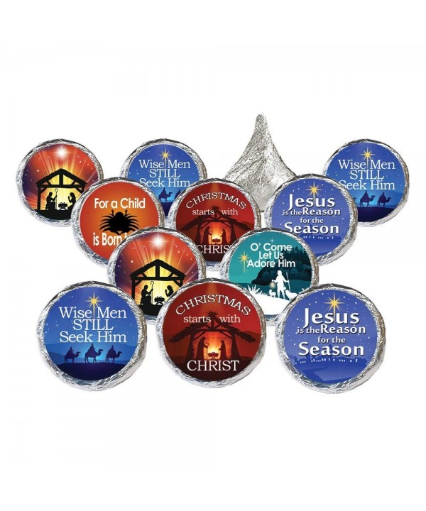 Religious Christmas Candy Favor Stickers