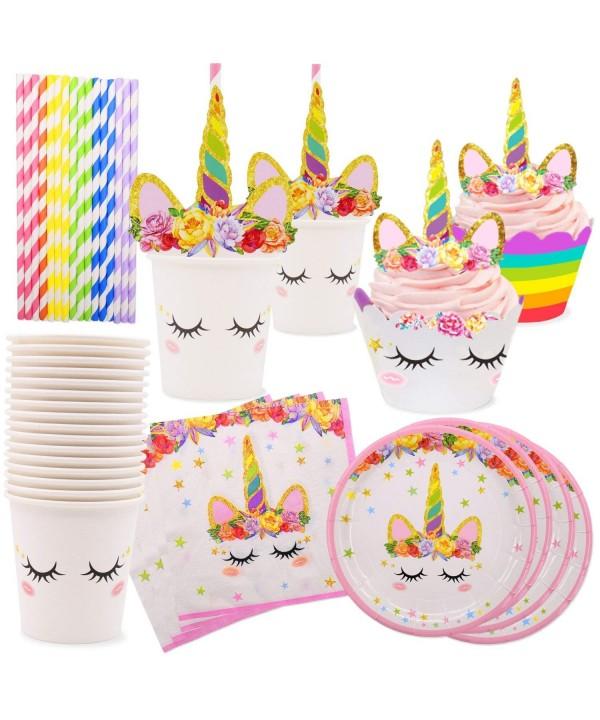Rainbow Unicorn Napkins Birthday Supplies
