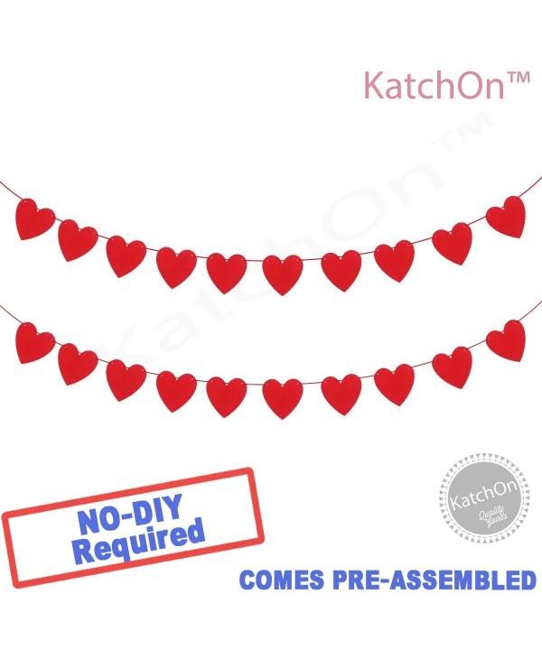 KATCHON Felt Heart Garland Banner