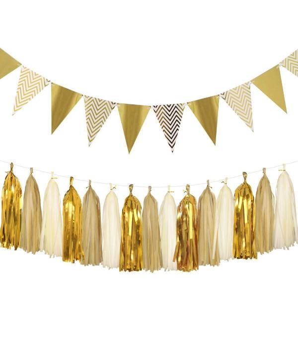 Sparkly Triangle Birthday Decorations Metallic
