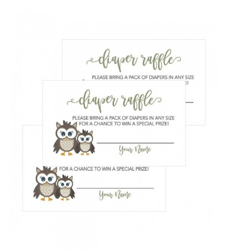 Lottery Woodland Invitations Supplies Diapers