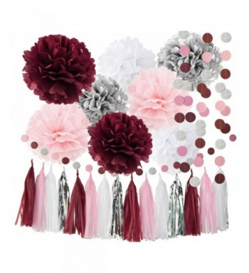 Qians Party Decorations Burgundy Bachelorette