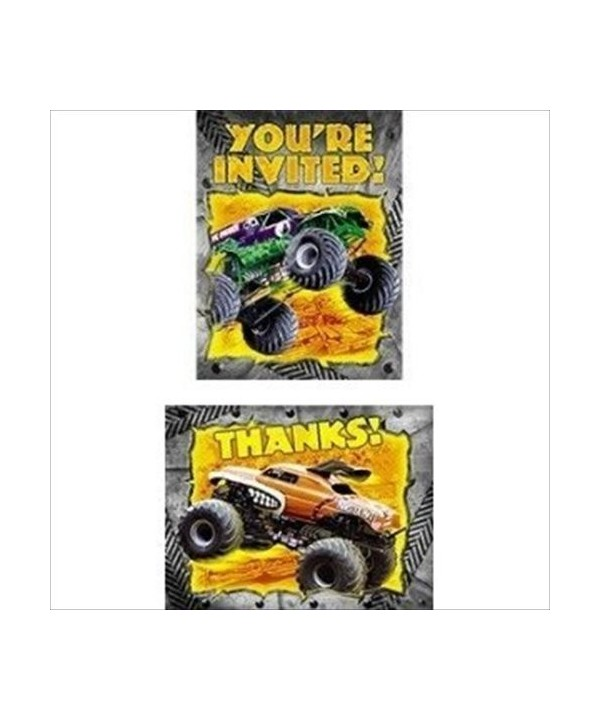 Monster Party Invitations Thank Envelopes
