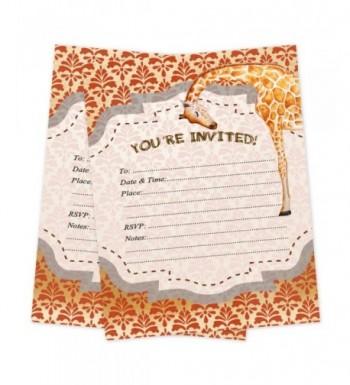 Safari Invitations Birthday Shower Envelopes