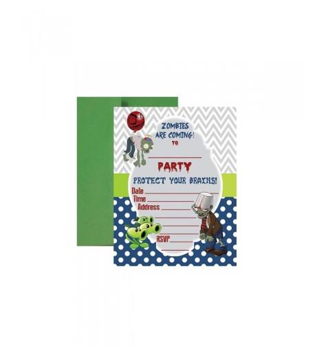 PVZ Birthday Party Supplies Invitations