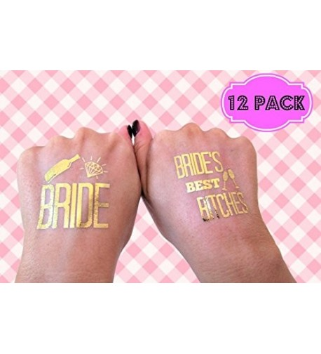 Bachelorette BRIDES BITCHES Temporary Tattoos