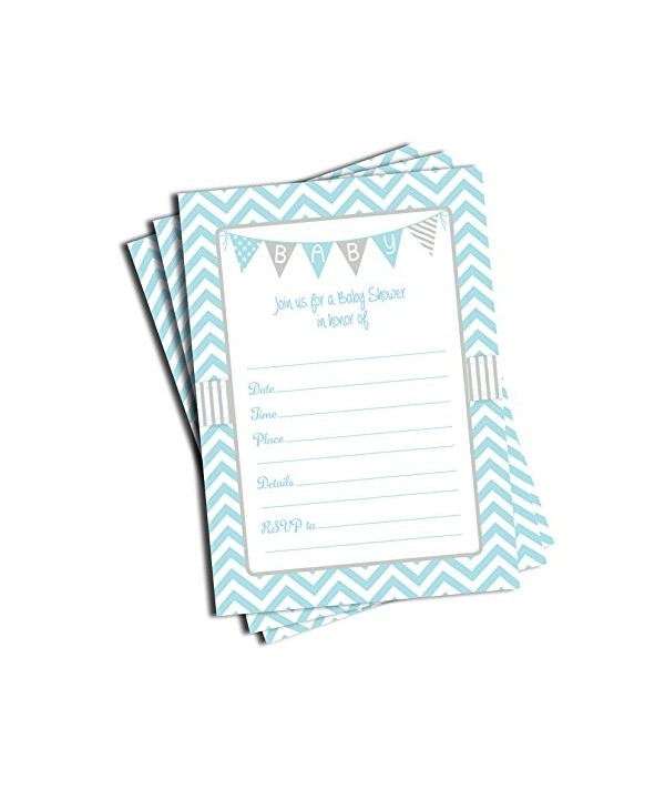 Blue Shower Invitations Envelopes Large