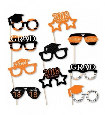 Orange Grad Glasses Paper Graduation