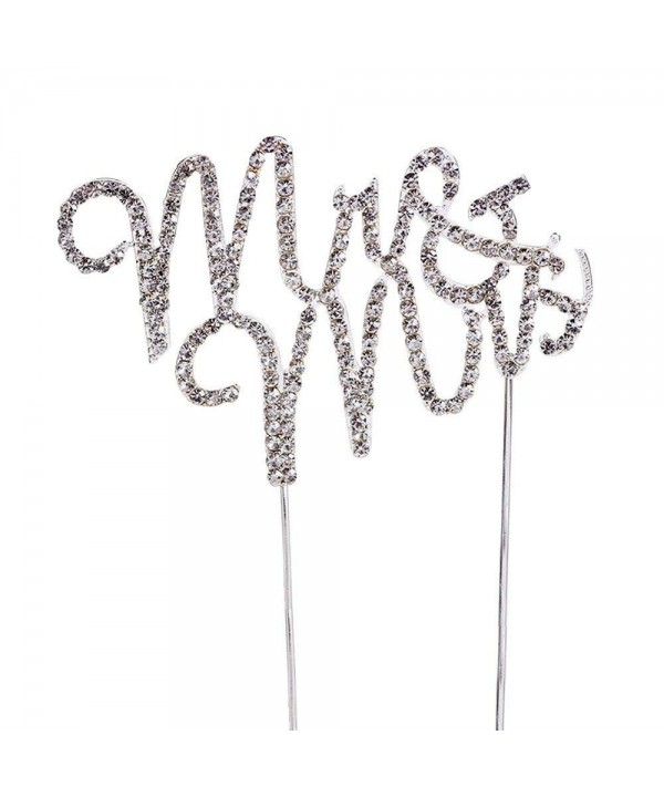 Rhinestone Monogram Wedding Anniversary Decoration