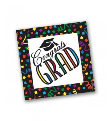 Congrats Confetti Mortarboard Graduation Celebration