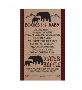 Lumberjack Shower Request Diaper Raffle