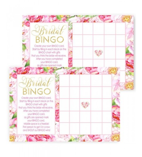 Floral Bridal Shower Bingo Design